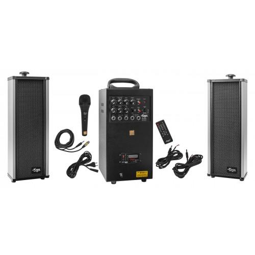 mp-80usb+echo with 2 external speaker
