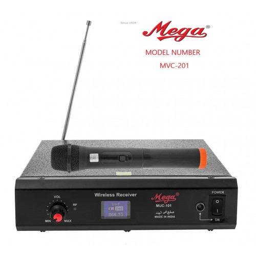 VHF SINGLE CORDLESS MIKE